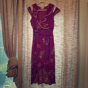 june and hudson high low floral dress